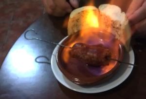 Chorizo al Infierno - I like to toast my bread :-)