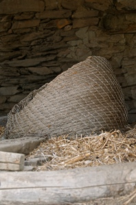 Basket made from esparto grass