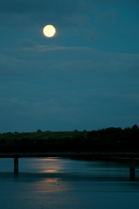 Full moon over Jubilee River