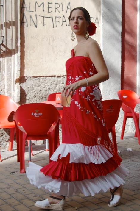 Flamenco Dress & Political Slogan