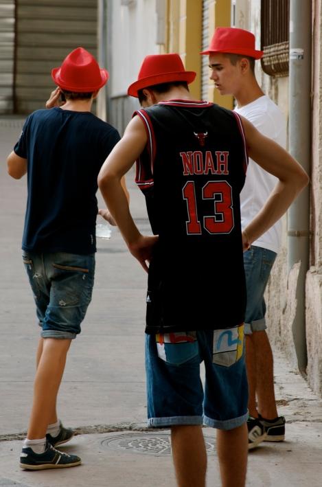 Three Red Hats