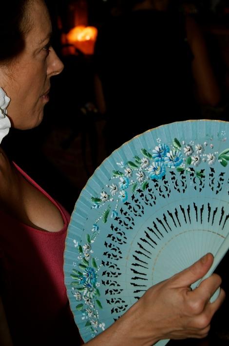 Flower & Blue Fan