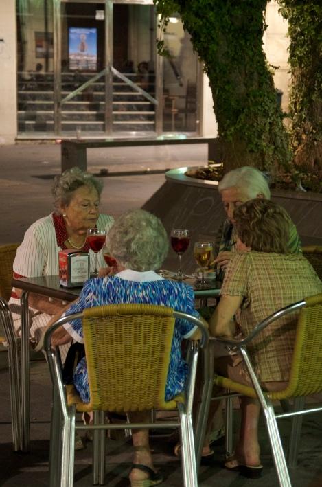 Friends enjoying wine & tapas