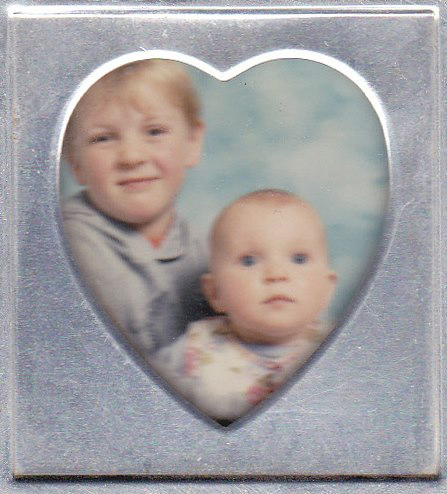 Heather as a baby with her brother Dale.